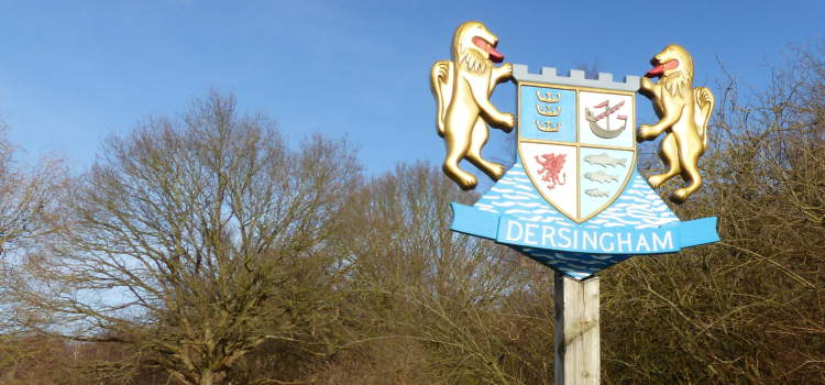slideshow image of dersingham village sign
