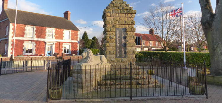 slideshow image of the village war memorial